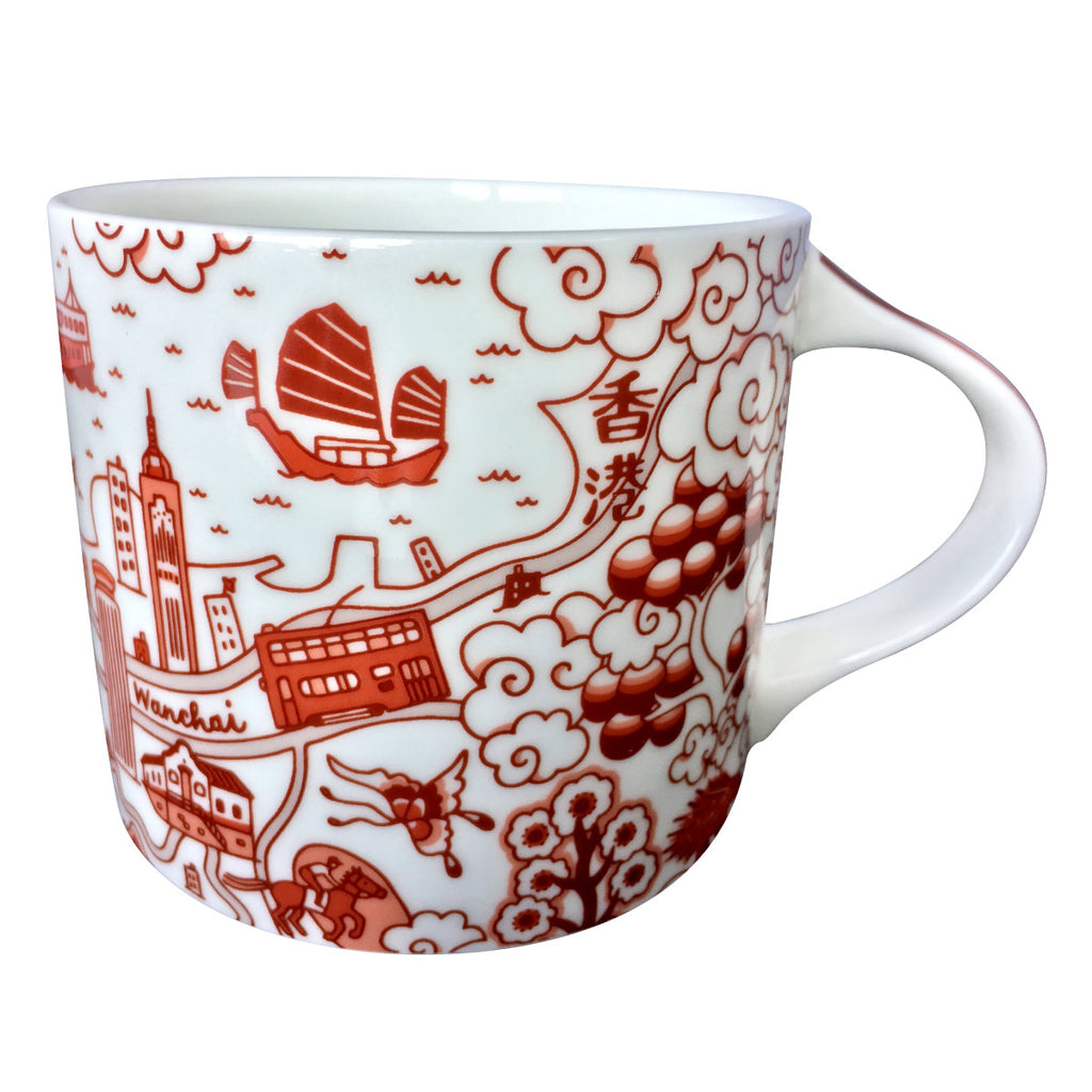 Faux Willow Series HK Mug Red - Faux, INSIDE Hong Kong