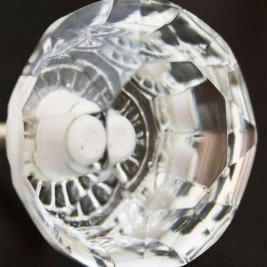 Door Knob Glass Faceted