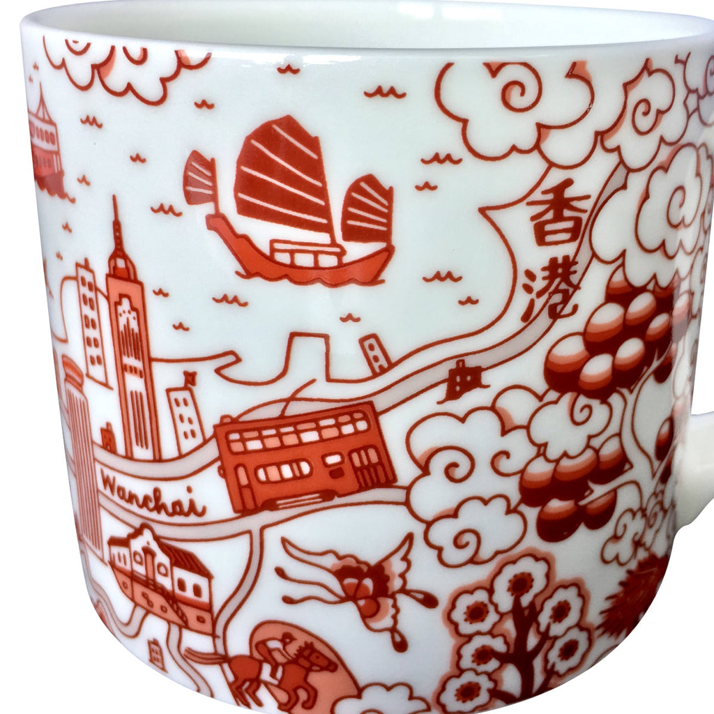 Faux Willow Series HK Mug Red