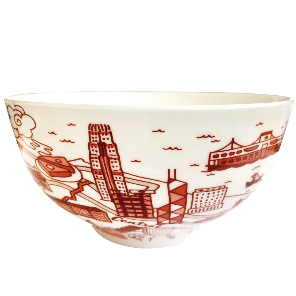 Faux Willow Series HK Bowl Red  set of 2 - Faux, INSIDE Hong Kong