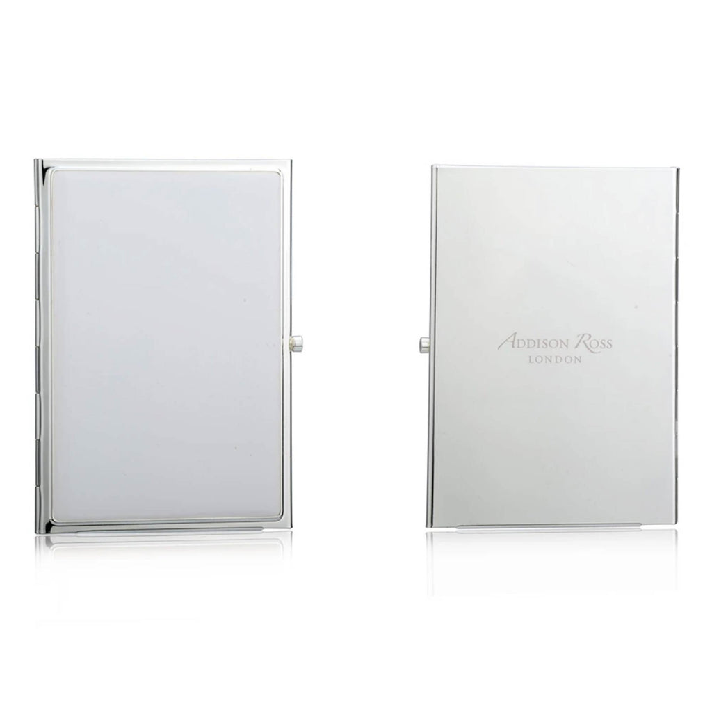 Addison Ross Travel Double Frame Silver plated - White