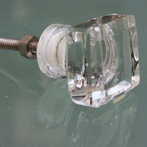 Door Knob Glass Square Small