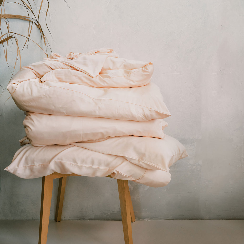 Naked Lab Organic Bamboo Silk Bedding Set - NEW Pink!