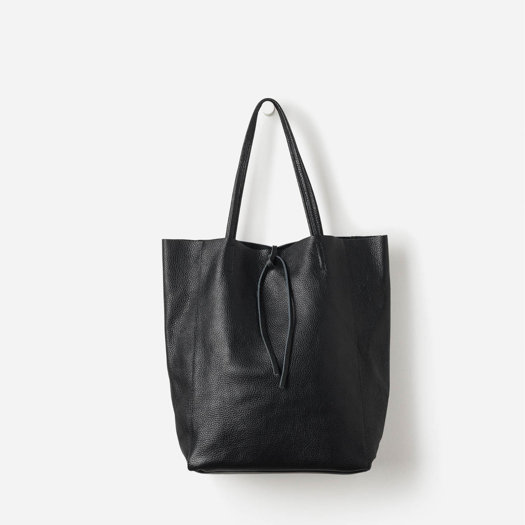 Florence Leather Tote Black
