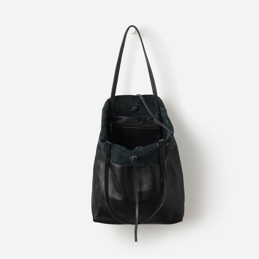 Florence Leather Tote Black - Citta Design, INSIDE Hong Kong