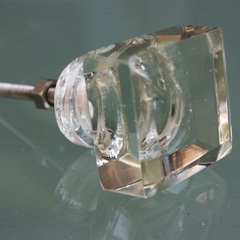 Door Knob Glass Square Large