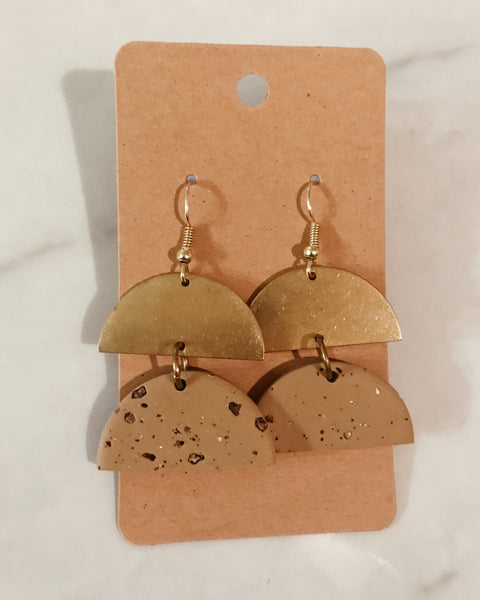 Eleanor Earrings in Tan