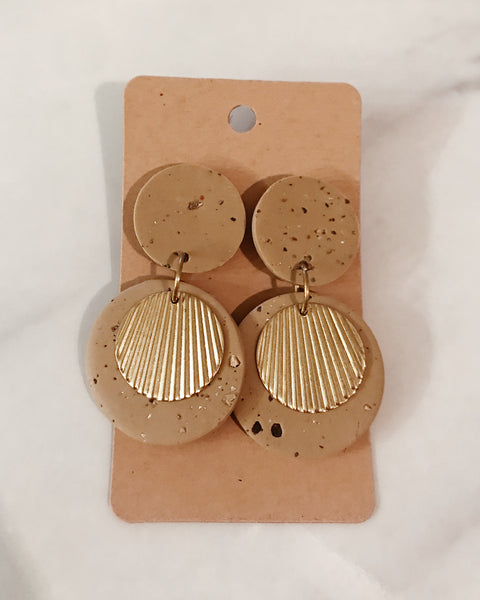 Ember Earrings in Tan