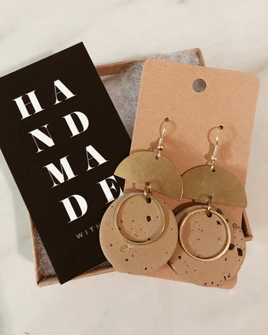 Indie Earrings in Tan