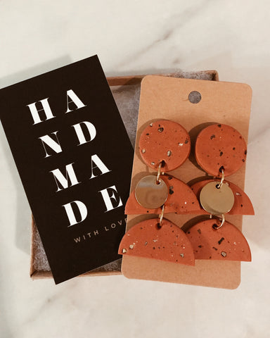 Stella Earrings in Burnt Orange