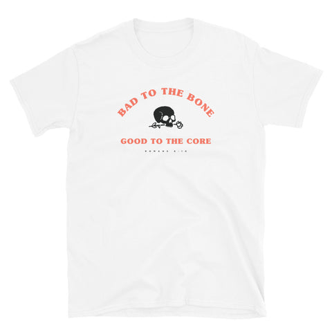 Bad to the Bone White, Short-Sleeve Unisex T-Shirt