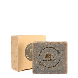 MARK soap with green tea for gentle cleaning and exfoliation