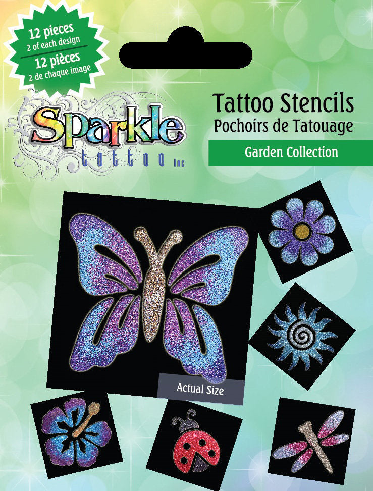 Tattoo Stencils Garden Collection
