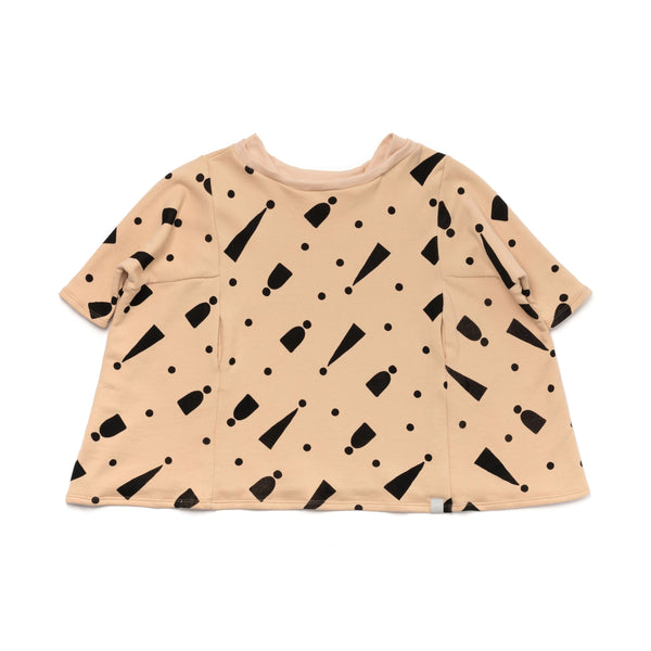 Girls Oversized Boxy Dress with Print | Sand | OM390