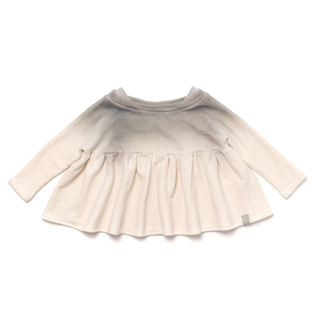 Girls Terry Tunic with Boat Neck and Ruffle | Cloud Ombre | OM392 - OMAMImini
