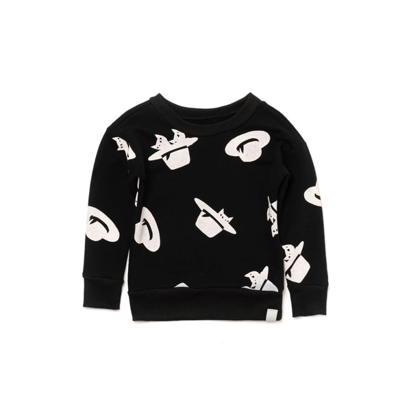 Kids Sweatshirt with Print | Black | OM395