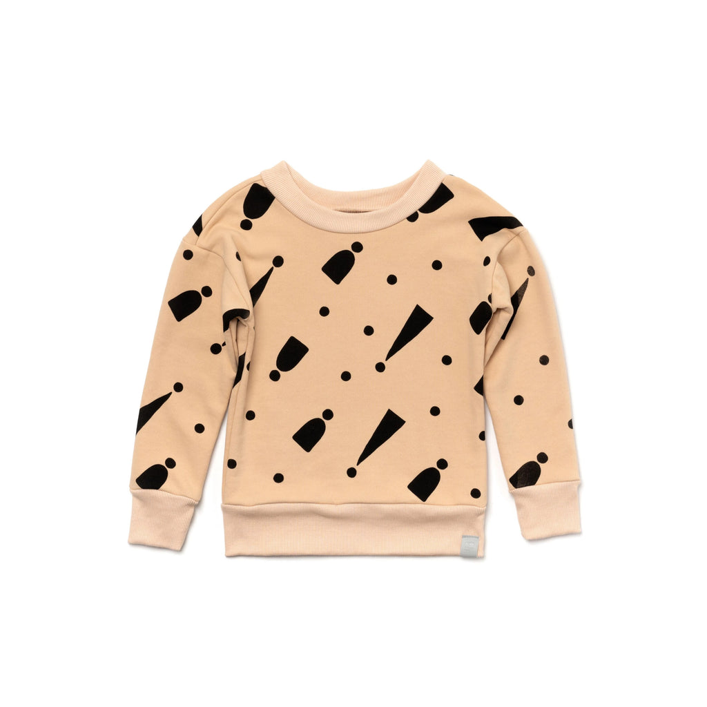 Kids Sweatshirt with Print | Sand | OM395