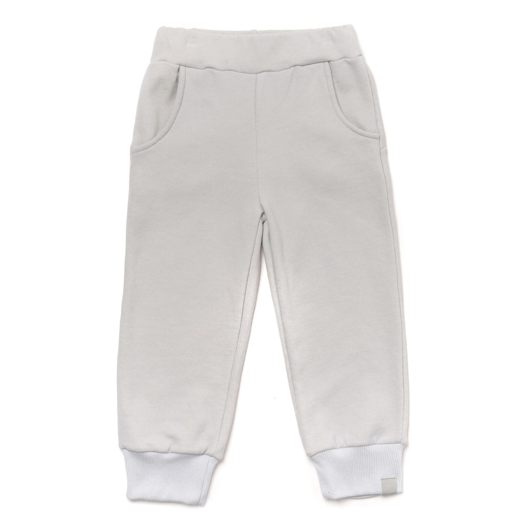 Kids Terry Joggers with Back Pockets | Cloud | OM397