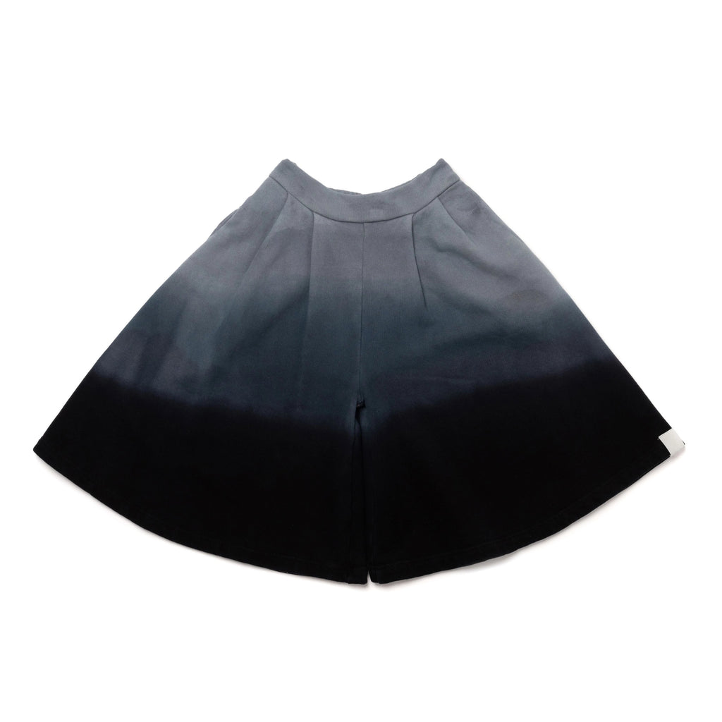 Girls Ombre Dye Terry Culottes | Black | OM400