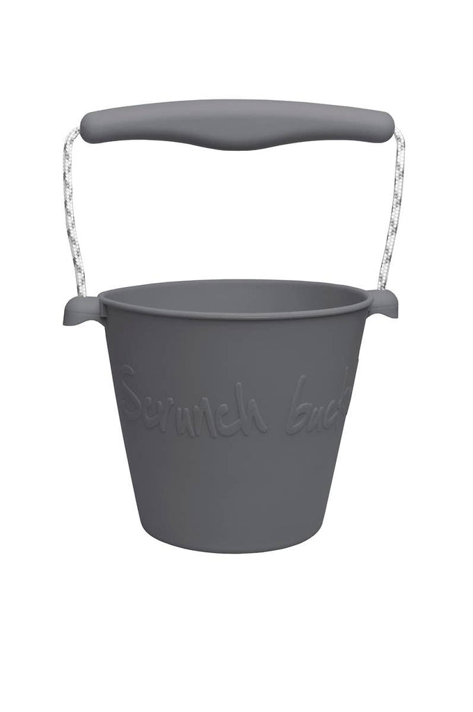 Soft Silicon Roll-up Bucket | Cool Grey