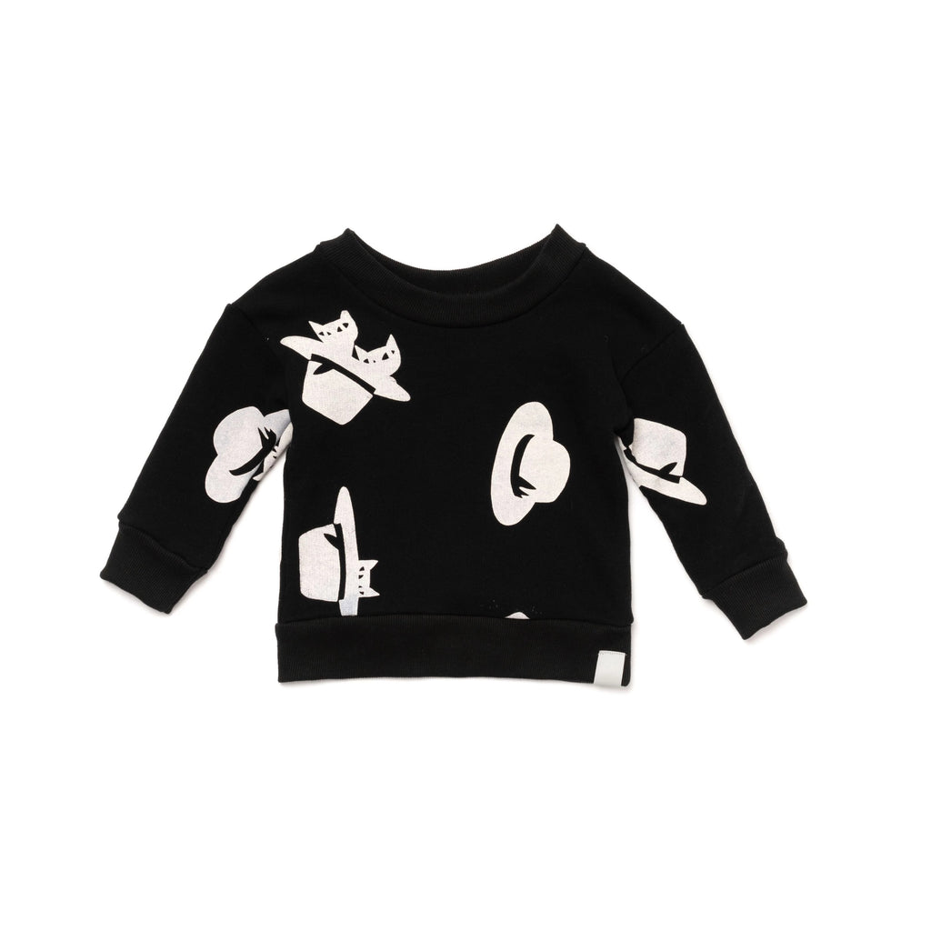 Baby Sweatshirt with Print | Black | OM409 - OMAMImini