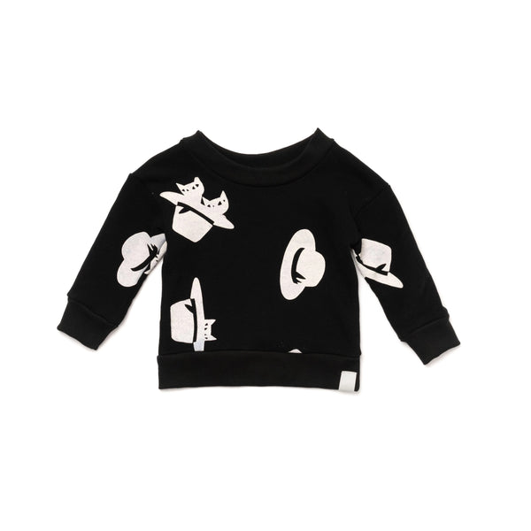 Baby Sweatshirt with Print | Black | OM409