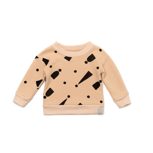 Baby Sweatshirt with Print | Sand | OM409