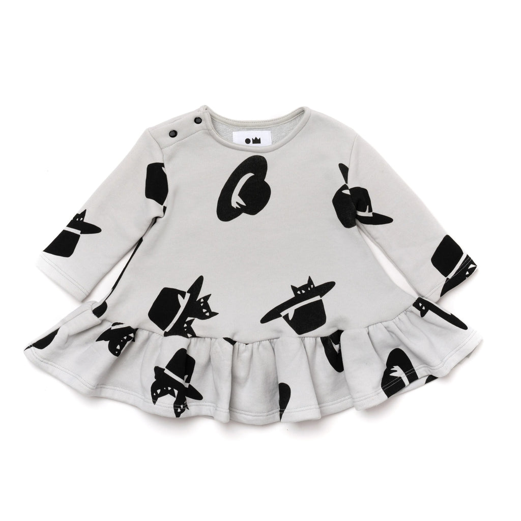Baby Ruffle Dress with Print | Cloud | OM411
