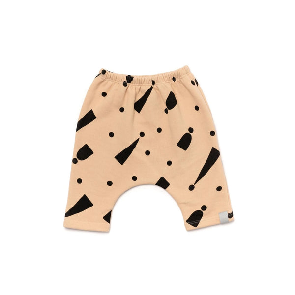 Baby Terry Harem Pants with Print | Sand | OM412