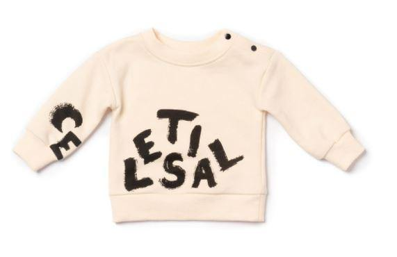 Baby Sweatshirt with Celestial Print | Off-White OM447B - OMAMImini
