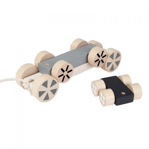 Plan Toys Stacking Wheels | Gray