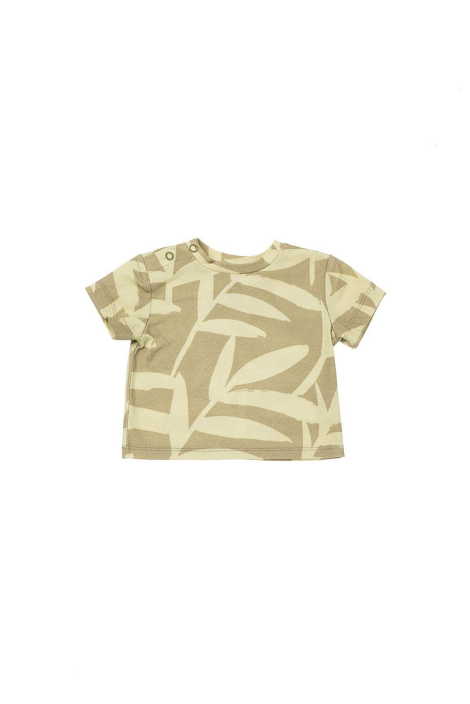 Baby T-Shirt - Olive Palm Leaves | OM434B - OMAMImini