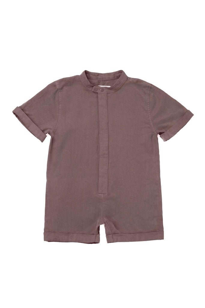 Kids' Mechanic Short Jumpsuit - Stone | OM423 - OMAMImini