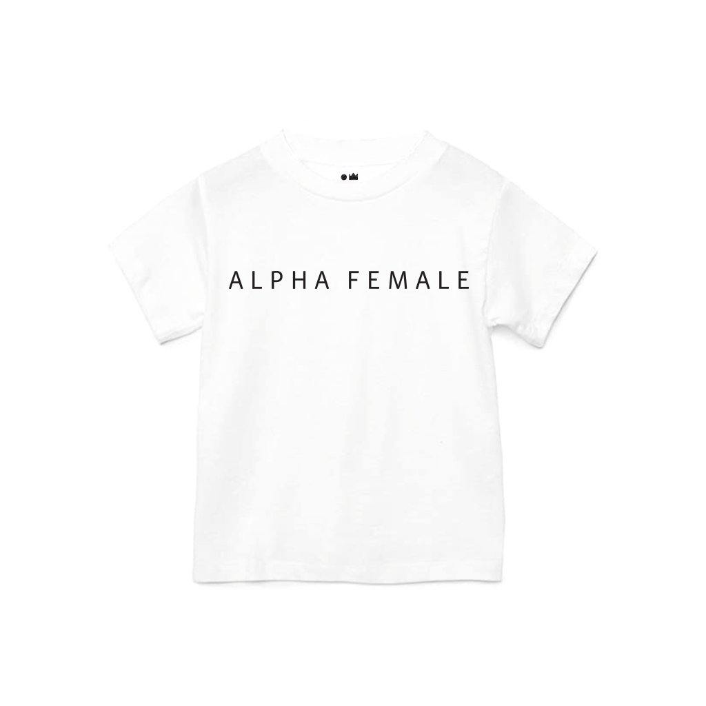 Baby Alpha Female T-shirt | White OM229B - OMAMImini