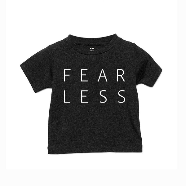 Kids Fearless T-shirt | Charcoal Black OM229G