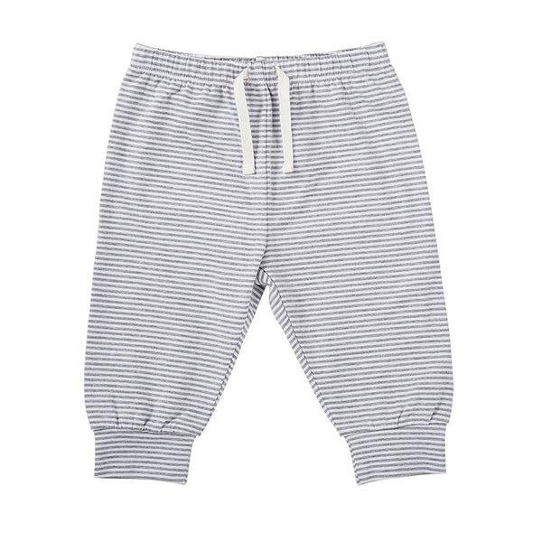 Baby striped pants | Gray & white