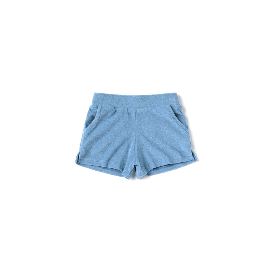Kids Running Shorts in Terry | Blue OM498
