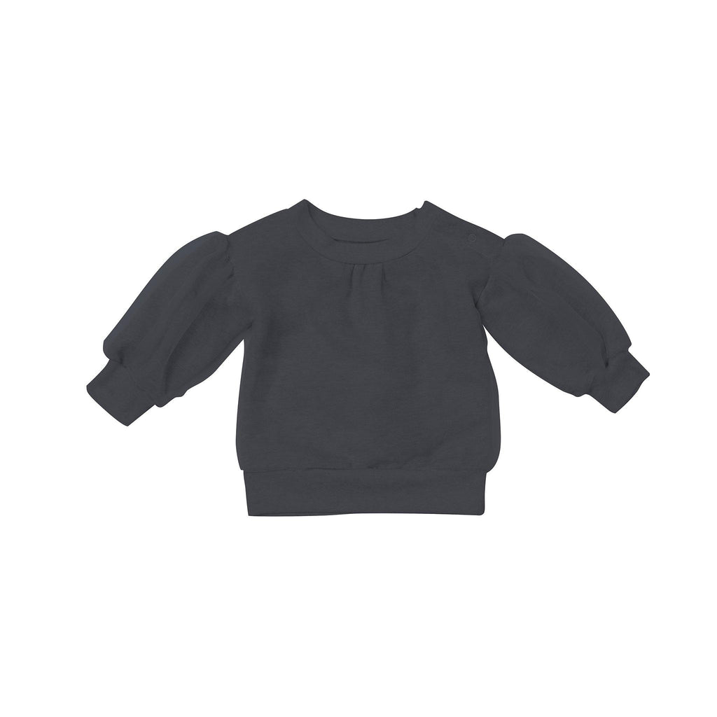 Baby Terry and Tulle Sweatshirt | Black OM444