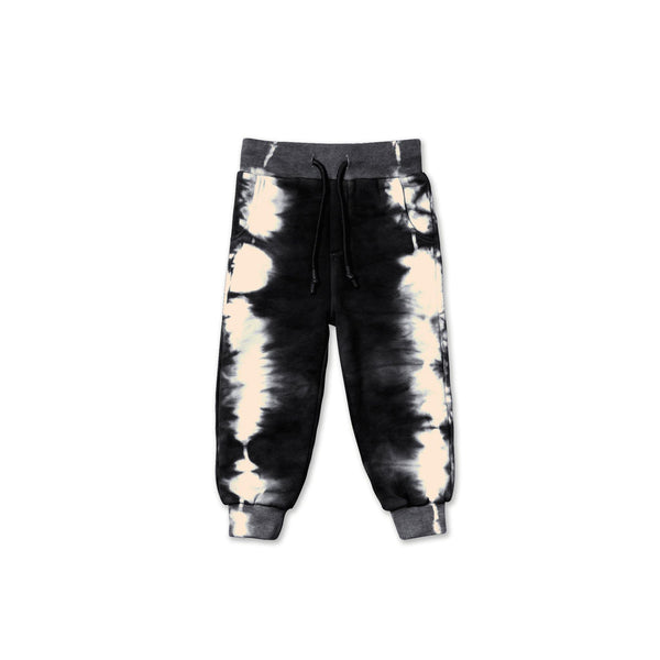 Kids Tie Dye Sweatpants | Black OM450