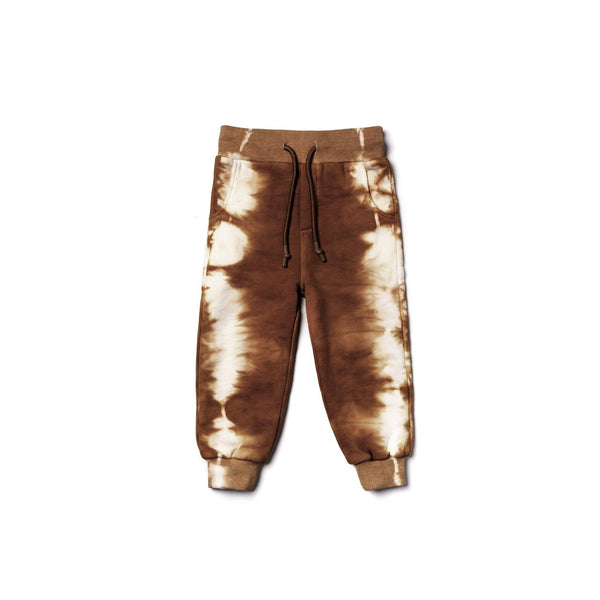 Kids Tie Dye Sweatpants | Brown OM450