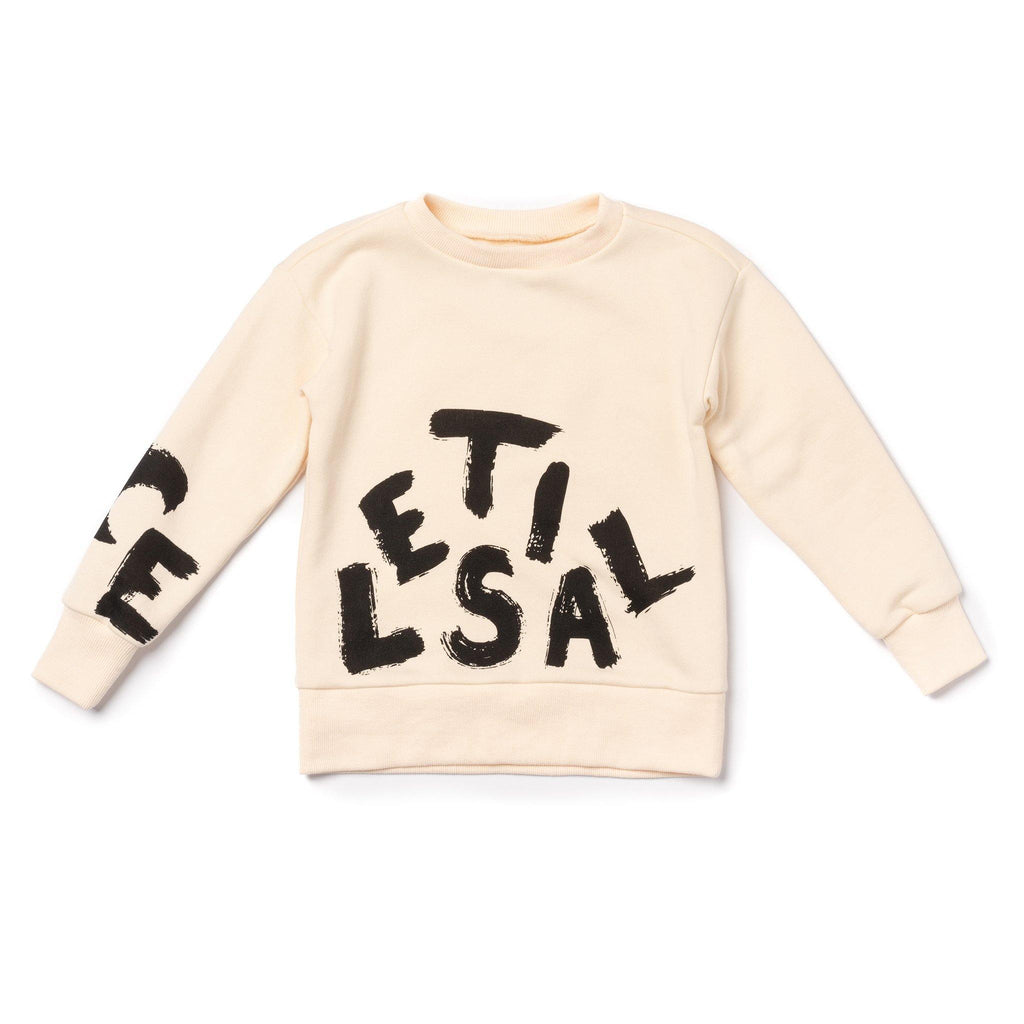 Kids Terry Sweatshirt with CELESTIAL Print | Off-White OM451B - OMAMImini