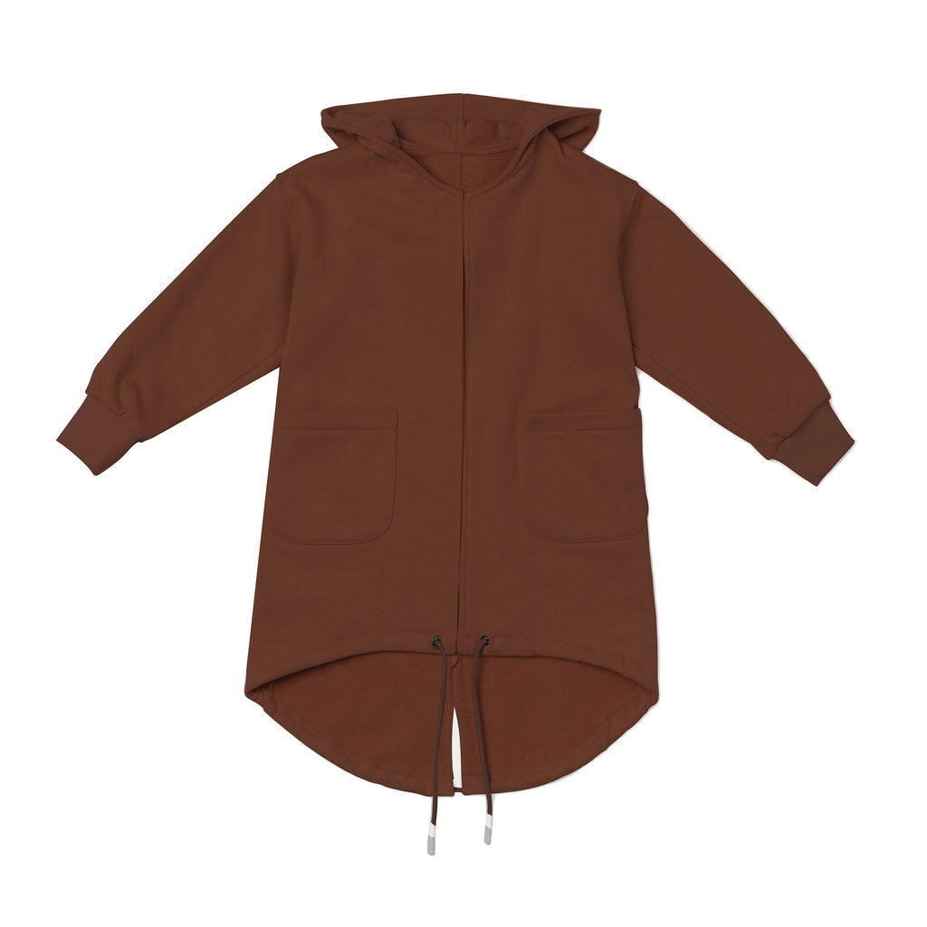 Kids Terry Trench | Brown OM452