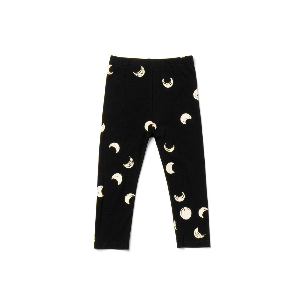 Kids Jersey Leggings | Black Moons OM458 - OMAMImini
