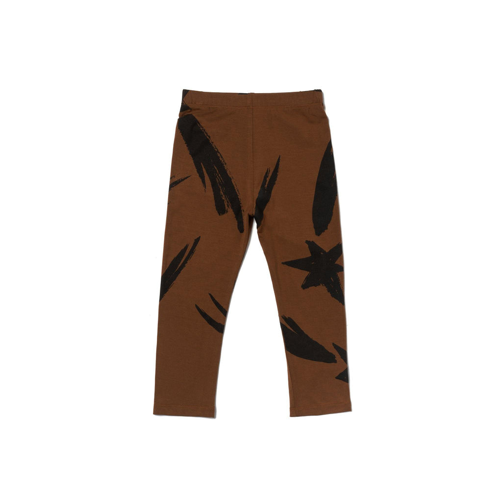 Kids Jersey Leggings | Brown OM458 - OMAMImini