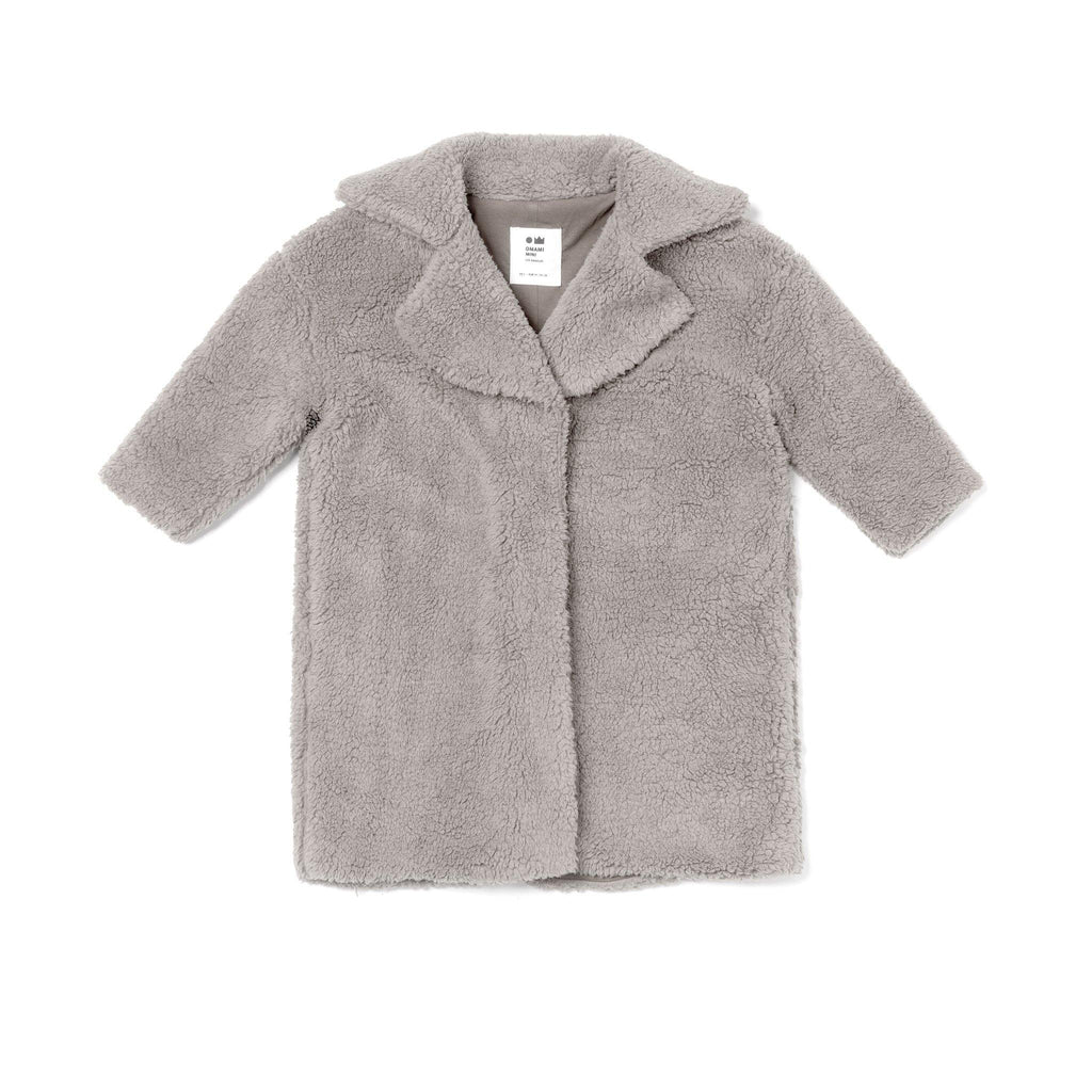 Kids Faux Sherpa Coat | Gray OM476 - OMAMImini