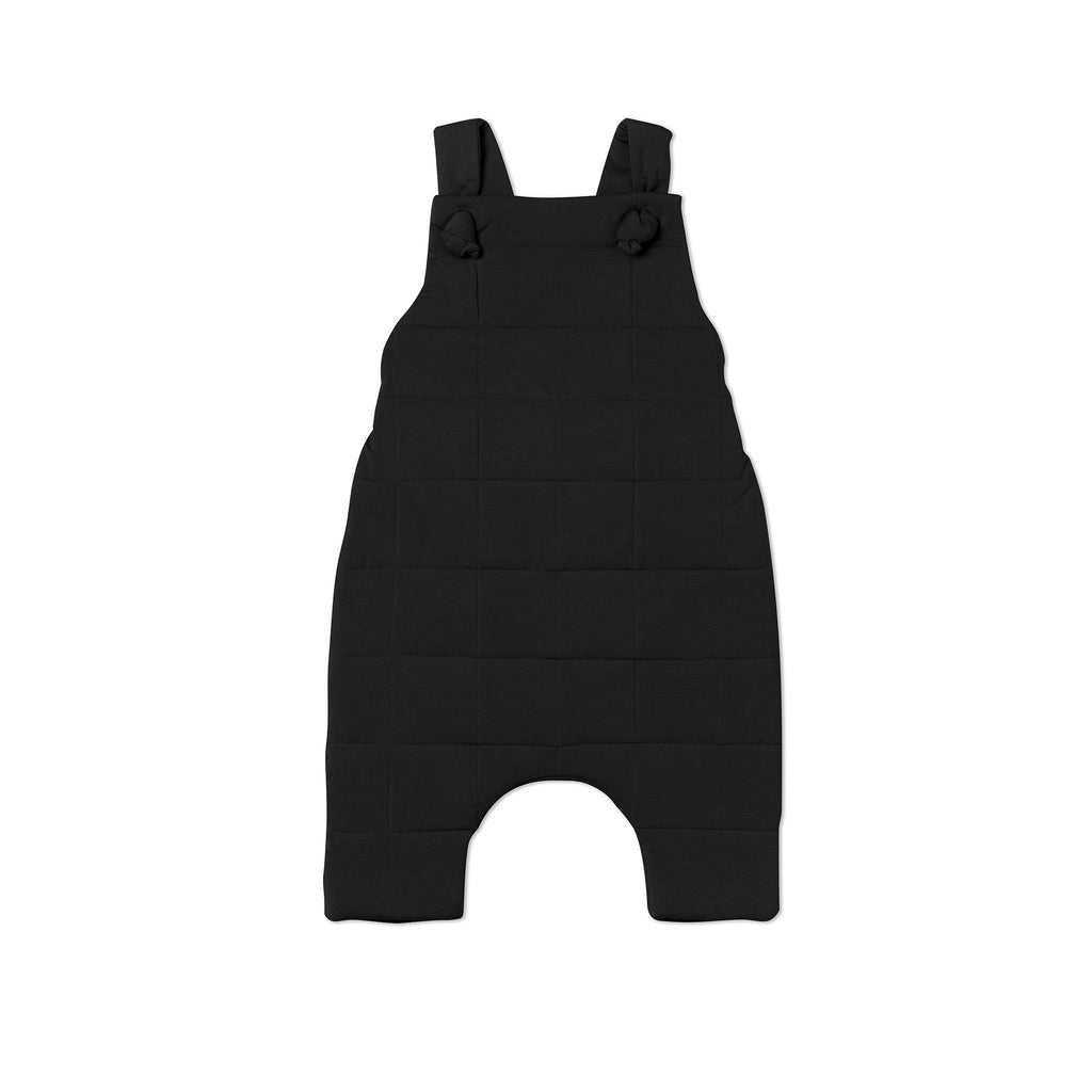 Baby Quilted Dungarees | Black OM483 - OMAMImini