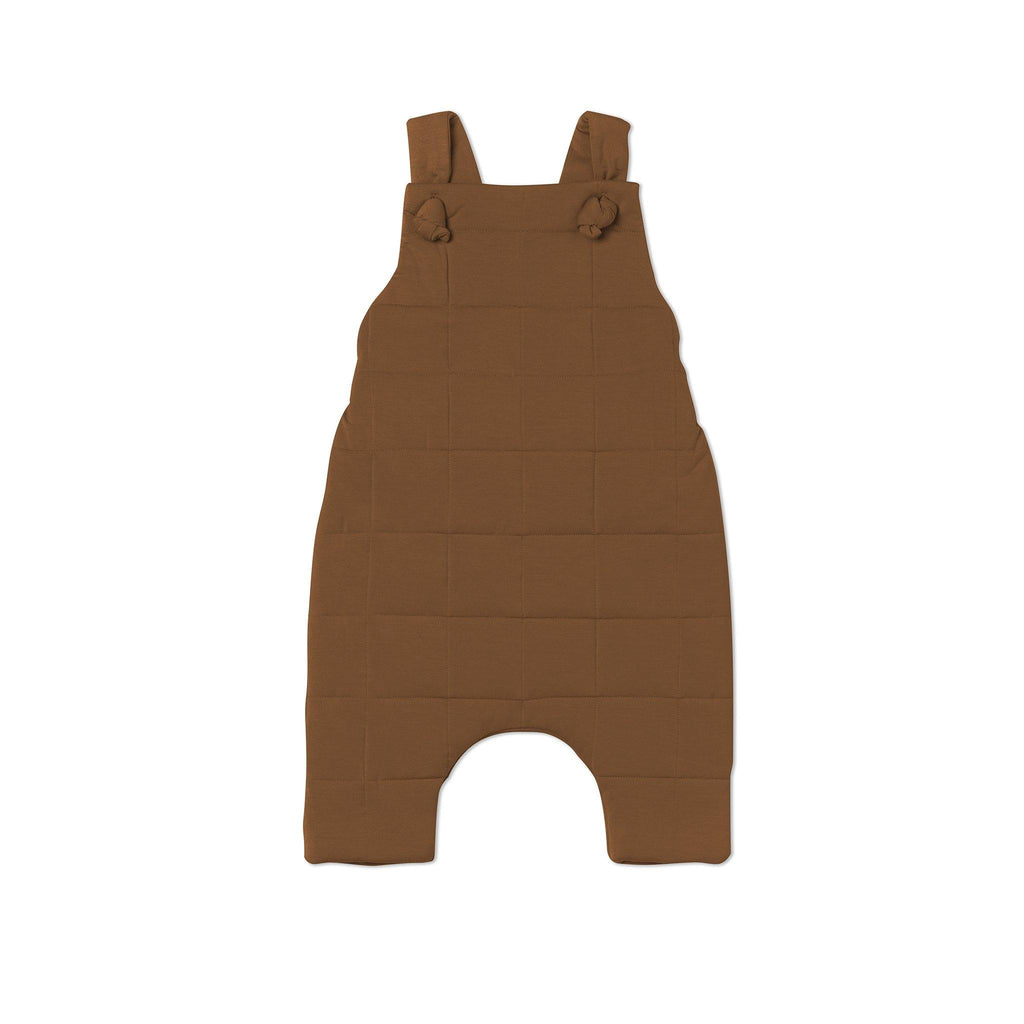 Baby Quilted Dungarees | Brown OM483 - OMAMImini