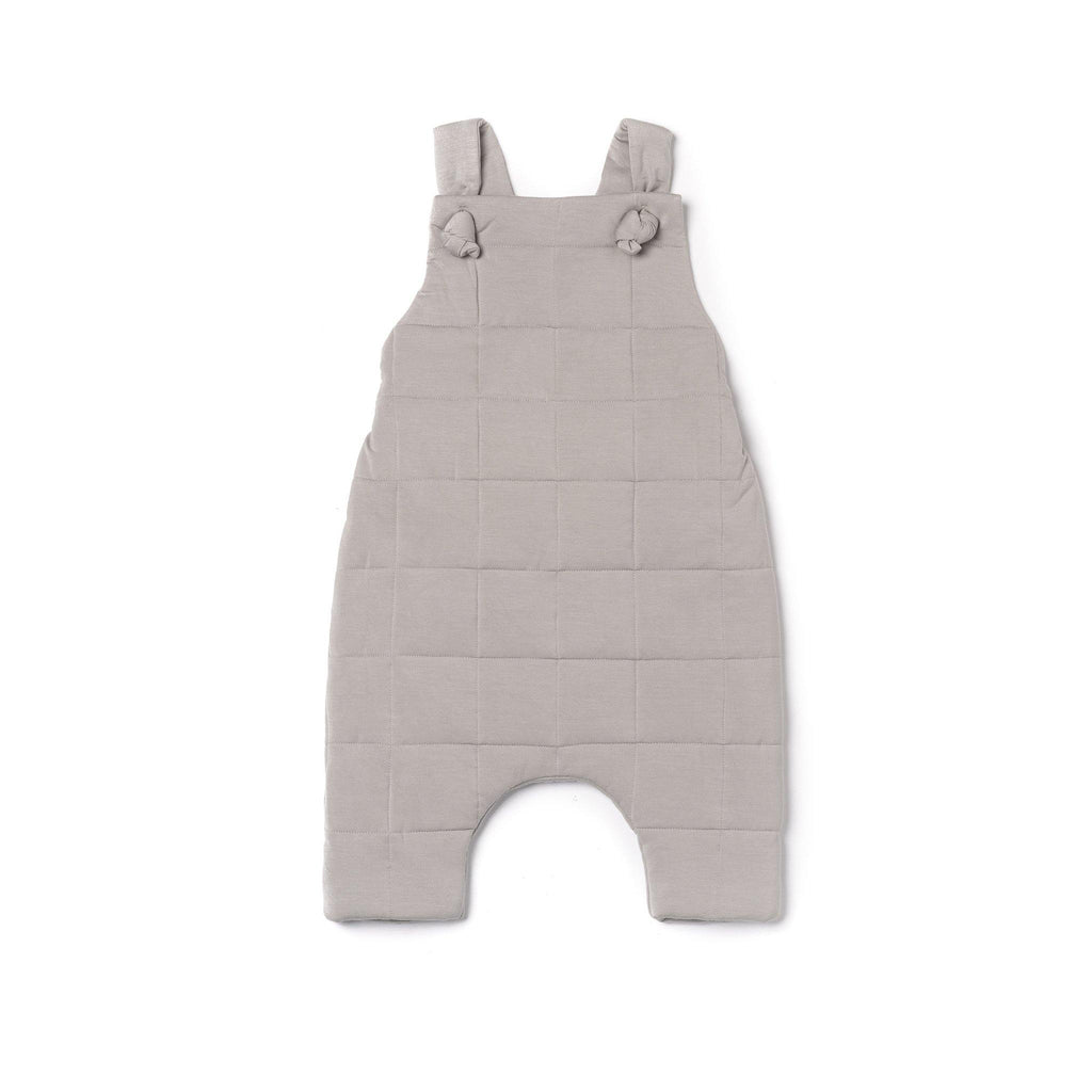 Baby Quilted Dungarees | Gray OM483