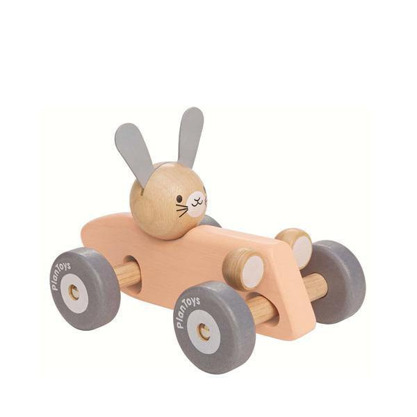 Bunny Wooden Racing Car | Gray
