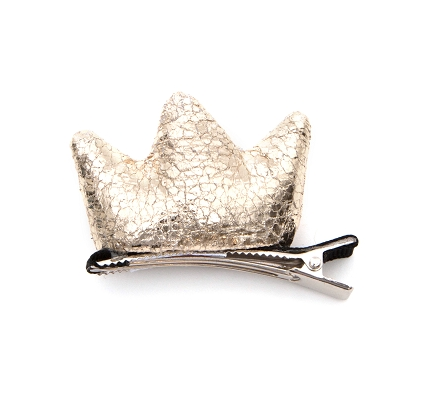 Stuffed Crown Hair Clip | Gold